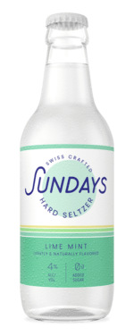 Lime Mint Hard Seltzer bouteille