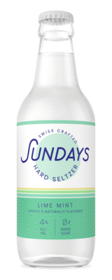Bottle of Lime Mint Hard Seltzer