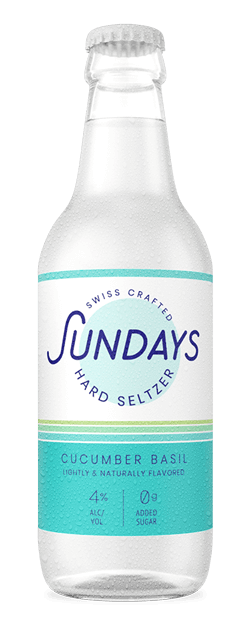 Cucumber Basil Hard Seltzer Bottle