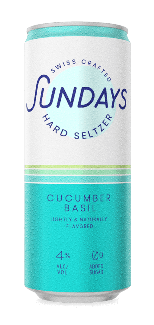 Cucumber Basil Hard Seltzer Can