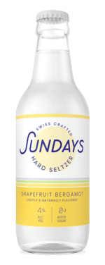 Grapefruit Bergamot - Sundays Hard Seltzer bouteilles