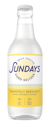 Grapefruit Bergamotte - Sundays Hard Seltzer Flaschen