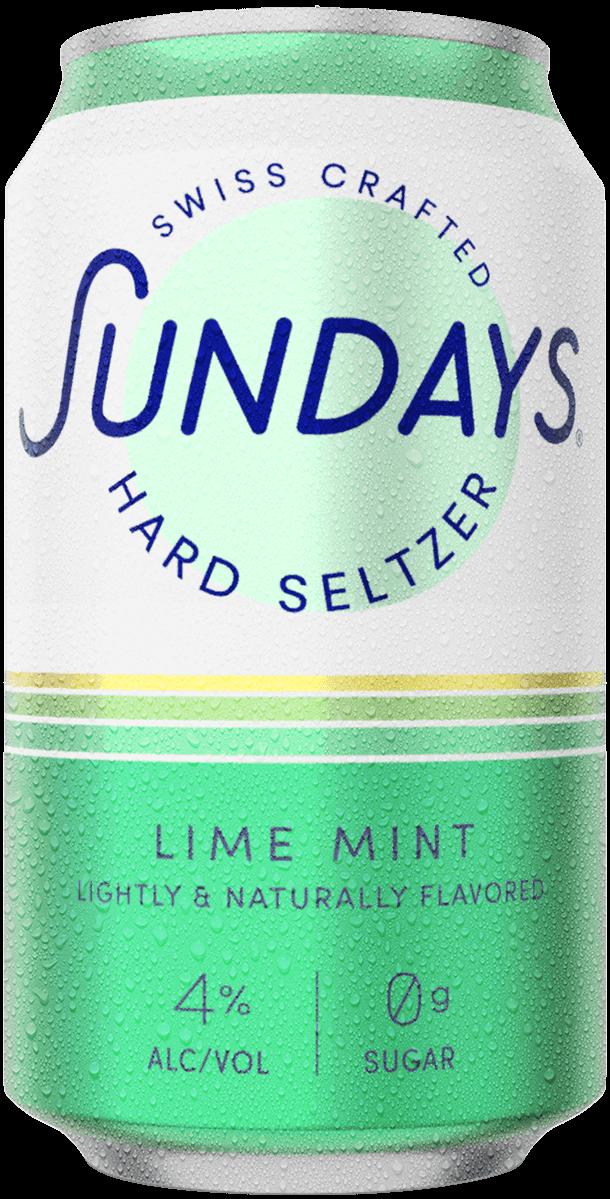 Hard Seltzer Citron Vert Menthe Canette
